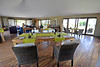 Lunch time in the dining room, lounge and bar inside a giant tent in our area at Sayari Mara Camp. There is another dining room, lounge and bar of a somewhat different design in a multi-room tent for a second area in this Camp.