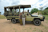 Nancy, Albert and the 4WD Land Cruiser we traveled in during our stay at Sayari Mara Camp just prior to our transfer to the airstrip. What an excellent guide, driver and friend!