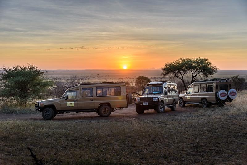 Sunrise at our Serengeti tented campsite