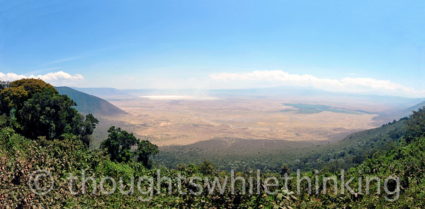 Panorama of Ngorongoro Crater. Check another one off my bucket list!