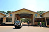 This is the Ladoare Ngorongoro Park Gate, the official entrance into the Ngorongoro Conservation area and the Crater. Info center on the left and business office on the right.