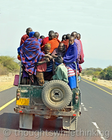 Headed to Ngorongoro Crater. Looks like mostly Maasai.