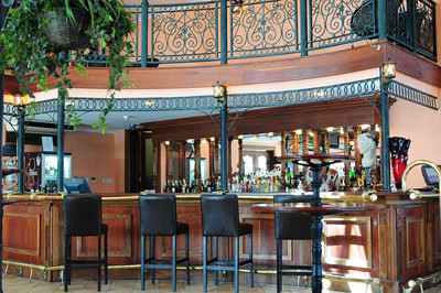 Ninth floor bar of the Harbor View Hotel, Dar es Salaam
