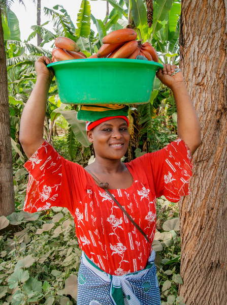 Woman at Banana Plantation
