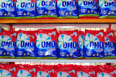 laundry soap on sale in a Dar es Salaam supermarket
