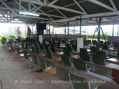 Departure lounge, Arusha Airport Tanzania