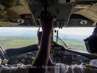 About to land at Lake Manyara, Tanzania