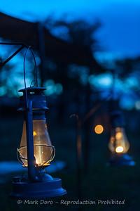 Camp light, Serengeti, Tanzania