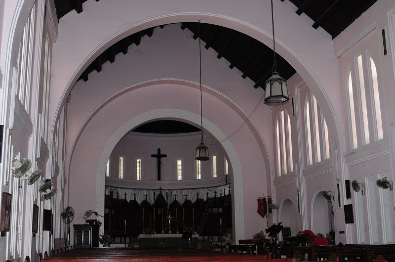 inside St. Alban's cathedral in Dar es Salaam