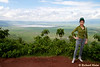 This is a viewing area on the rim of the Ngorongoro crater. The crater is a 18 x 22 km collapsed caldera.<br /> _MG_3020