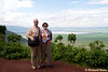 This is a viewing area on the rim of the Ngorongoro crater. The crater is a 18 x 22 km collapsed caldera. My mom accompanied us on the trip.<br /> _MG_3019