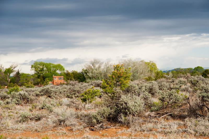 038Building view from neighboring Pueblo land_Mabel Dodge Luhan Inn_Taos  NM_May 2011_016 copy