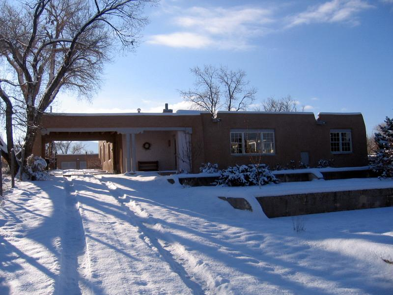 Our home in Taos, the residence of John and Nancy Woodworth with whom we exchanged homes for a week.