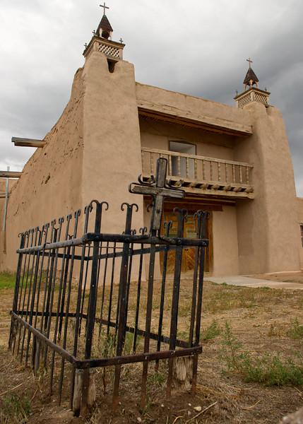 San Jose de Gracia Church, also known as Church of Santo Tomas Del Rio de Las Trampas, is a church built between 1760 and 1776; Las Trampas, New Mexico.