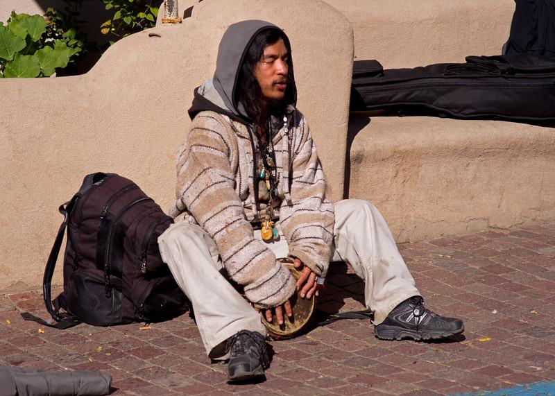 Street musician; Taos, New Mexico.