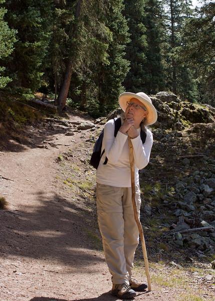 Rita on the trail to Williams Lake, near the Taos Ski Valley, New Mexico.