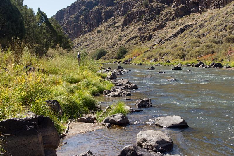 The Rio Grande River, near the John Dunn Bridge, New Mexico.