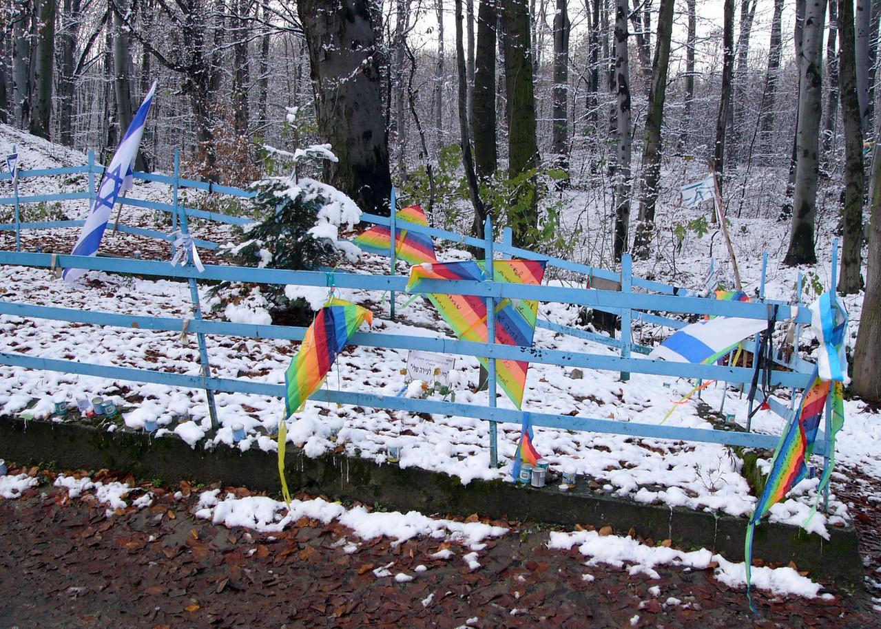 Detail children's memorial in forest