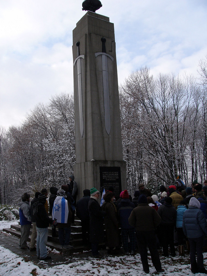 Memorial to thousands executed in the forest outside Tarnow