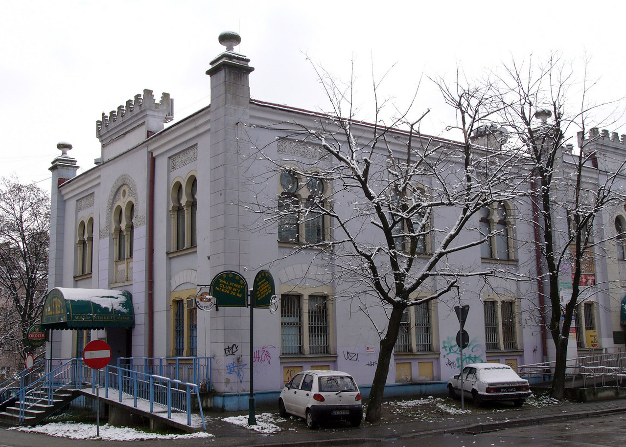 Former synagogue and mikvah in Tarnow, now a health club