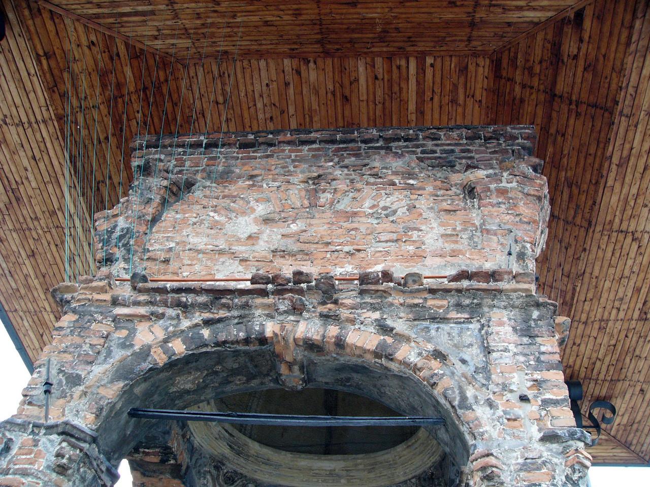 Detail, looking up at the bimah, Old Synagogue ruins, Tarnow