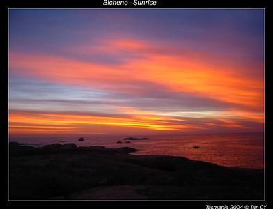 bicheno sunrise 2 border