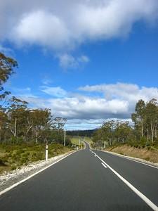 Roads on Tasmania (road leaving Cradle Mt.)