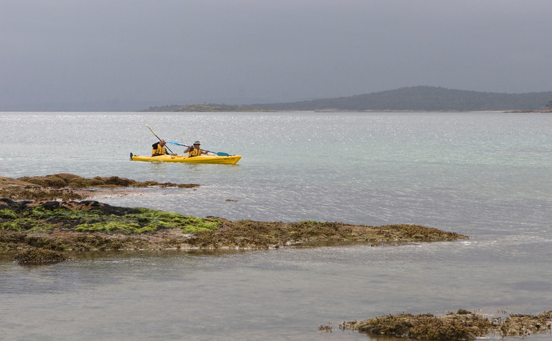 Kayakers in Freycinet National Park.
