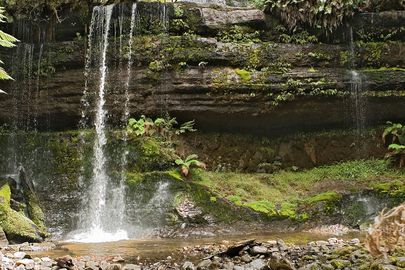Bottom of the same waterfall.  One would need a wider angle lens to get it all in.