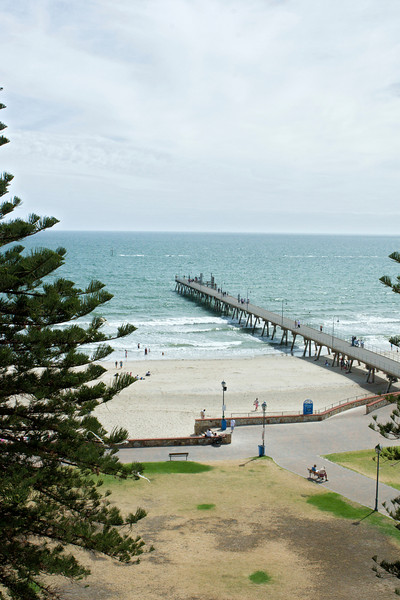 The long pier at Glenelg, from our hotel room window.