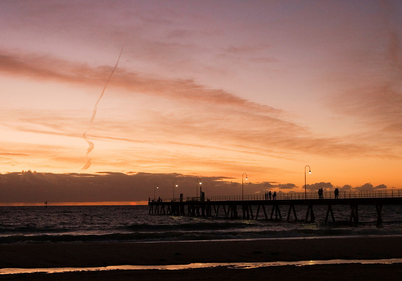 Sunset, Glenelg pier.
