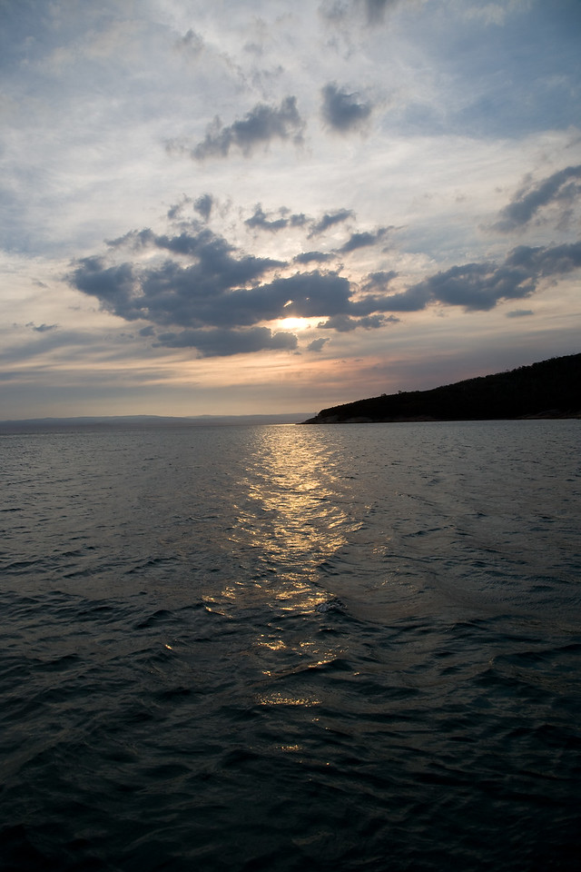 Sunset off Freycinet Forest