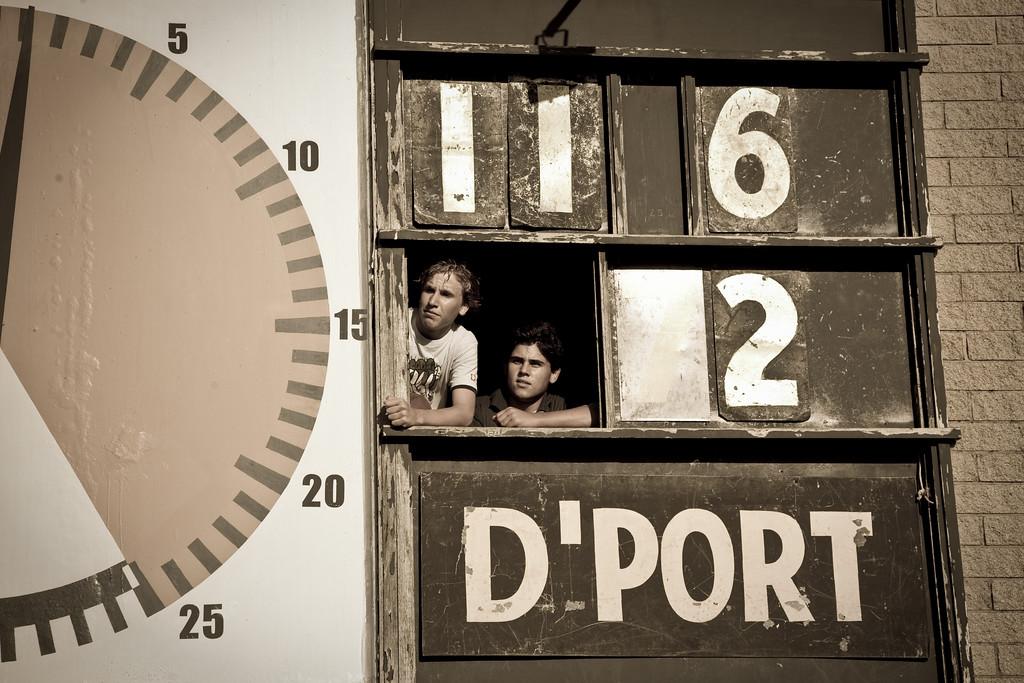Scoreboard at the Ulverston Stadium