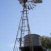Old style windmill and water tank at Brown Brothers wines, Millawa (Victoria)