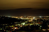 Hobart at night from Huon Road.  South Hobart, Tasmania.