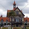 The Rotorua Museum of Art and History in Rotorua, Bay of Plenty, North Island, New Zealand.