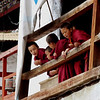 """Sept 21-30, 2004, Arunachal Pradesh, India<br /> 'Small Monks'<br /> Arunachal Pradesh was formally a southern province of Tibet, annexed by the  British 1914 and remains part of India, though the region was the focal point of the Sino-India war of 1962. The region affords a unique insight into the Tibetan Bhuddist tradition, unhindered by the chinese cultural revolution and repression  which exists across the Border a hundred kilometers away.<br /> When the 14th Dalai Lama fled from Tibet, following the failure of a rebellion against the Chinese central government, he crossed into India on 30 March 1959 and spent some days resting at Tawang Monastery before reaching Tezpur in Assam on 18 April 1959<br /> <a href=""""http://en.wikipedia.org/wiki/Tawang_Monastery"""">http://en.wikipedia.org/wiki/Tawang_Monastery</a><br /> <a href=""""http://en.wikipedia.org/wiki/Tawang_district"""">http://en.wikipedia.org/wiki/Tawang_district</a><br /> <a href=""""http://tawangmonastery.org/"""">http://tawangmonastery.org/</a><br /> (Credit Image: © Chris Kralik/KEYSTONE Press)"""