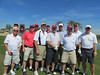 The gang on the first tee of the Palms course at Palm Valley.