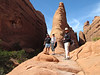 Howie, Deb and Lynn along the Devils Garden Trail in Arches (2012)