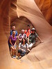 The gang in Lower Antelope Canyon