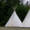 Group of teepees for multiple group rentals. We rented the one and only teepee they rented to single group.