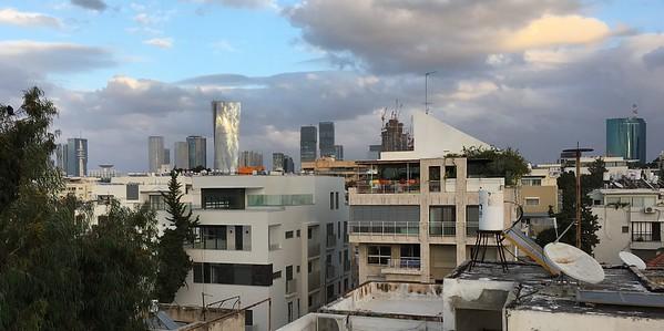 Tel Aviv rooftops from Brener 21 (Hotel Shenkin)