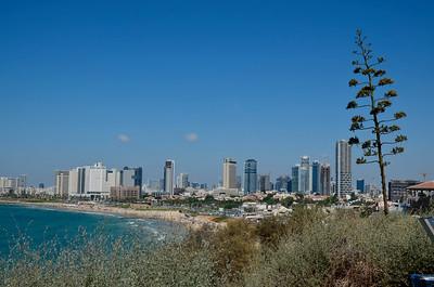 Looking north towards Tel Aviv