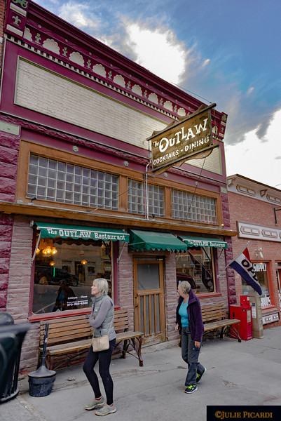 The Outlaw Bar in Ouray, CO was a favorite haunt of John Wayne during the filming of True Grit. He visited  the bar nearly every night for dinner. If you are ever in Ouray, don't miss this opportunity for dinner...some of the best Italian gravy you will find!