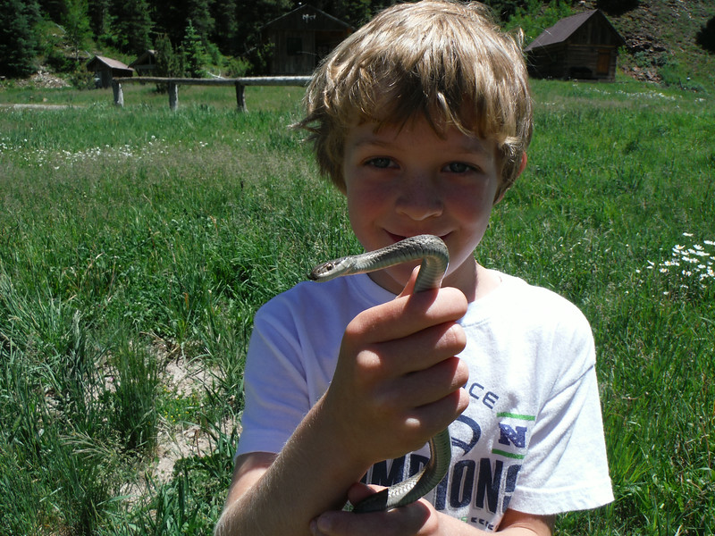 Slater's first snake capture. A moment to never forget!