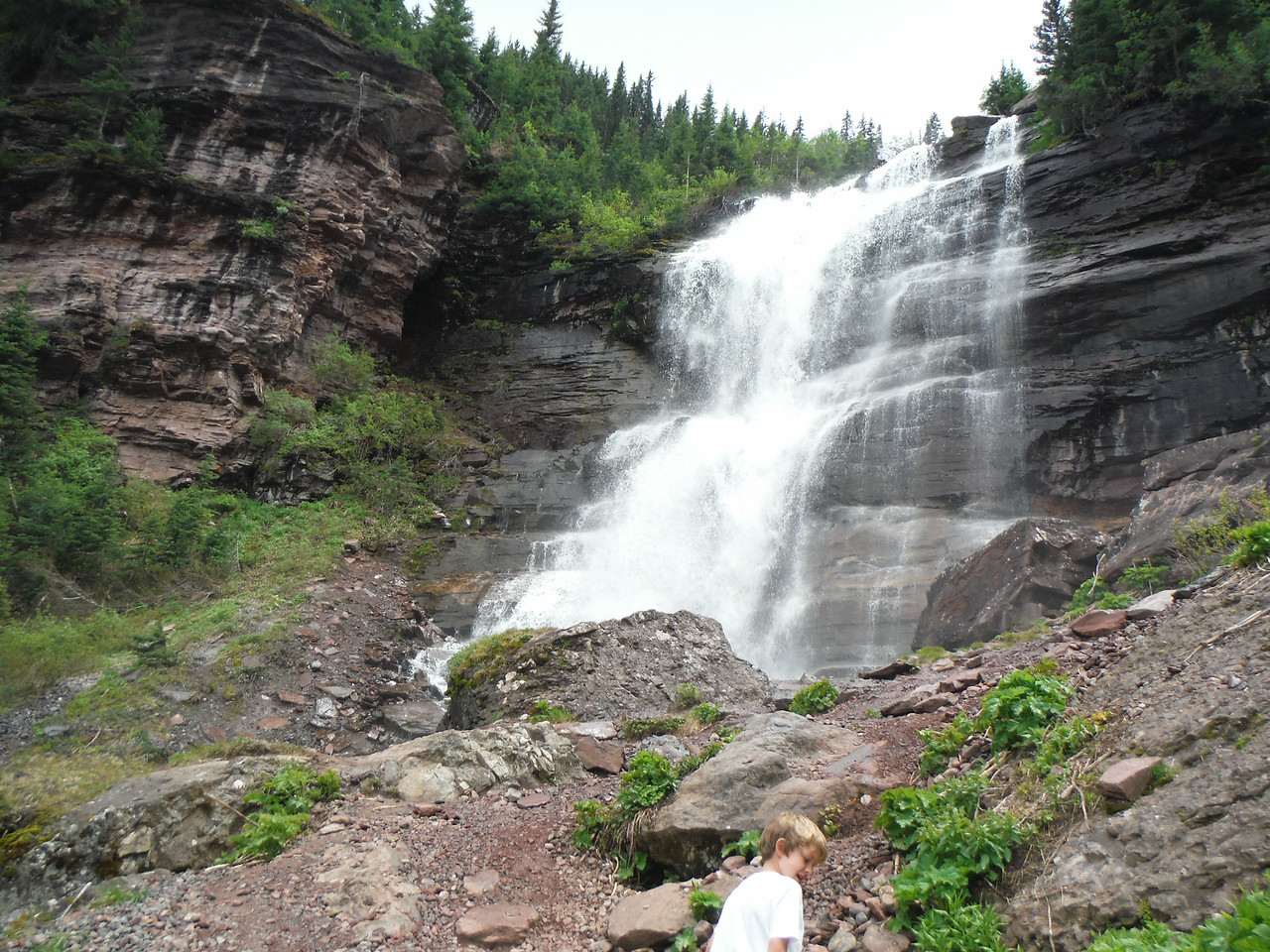 Bear Creek Falls. So beautiful and worth the hike up.