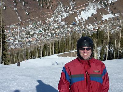 Josh on Lookout (Telluride below)