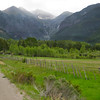 The ride into Telluride.  Bridal Veil Falls is in the background