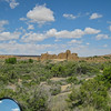 """From their site: """"Chaco Canyon was a major center of Puebloan culture between AD 850 and 1250.  The Chacoan sites are part of the homeland of Pueblo Indian peoples of New Mexico, the Hopi Indians of Arizona, and the Navajo Indians of the Southwest.""""  """"Chaco was a hub of ceremony, trade, and administration for the prehistoric Four Corners area--unlike anything before or since.""""  After miles of nothing, in the middle of nowhere this gem presents itself.  Alas the campground is closed """"for months"""" according the Park Ranger, but I will be back when I have a little more time."""
