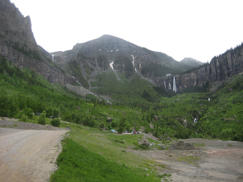 You can just see the Bridal Veil Falls Power Station at the top of the falls.  The road to it is accessible by 4-wheel drive vehicles (and dual-sports :) ), but it was just starting to rain, and I didn't feel like picking up the beemer a few times on the way up and down.